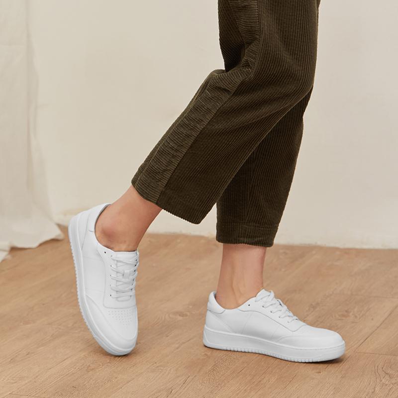 网易严选 情侣款 女士经典小白鞋