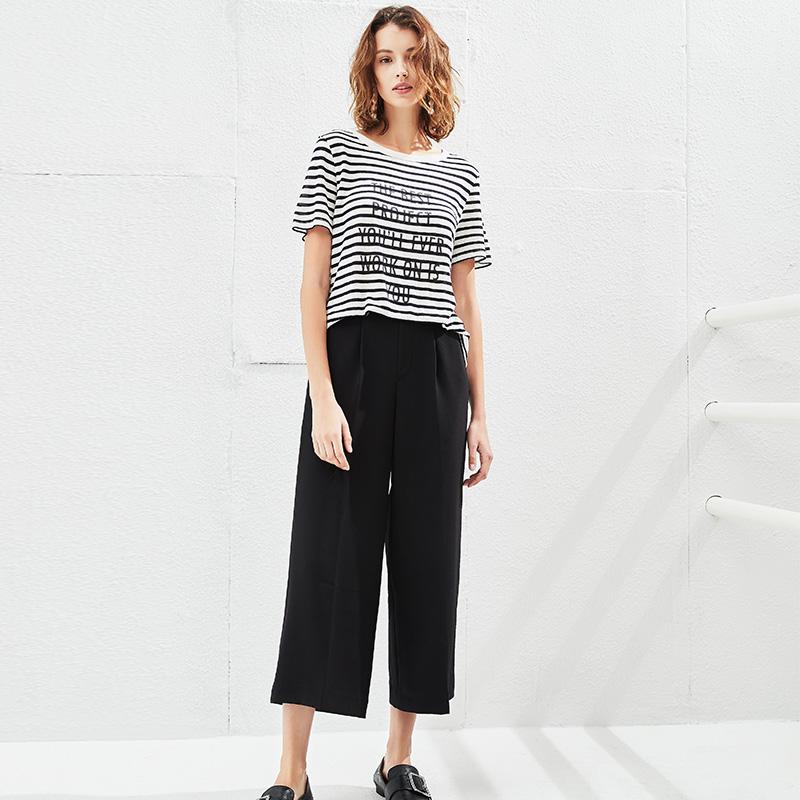 女式基础阔腿裤