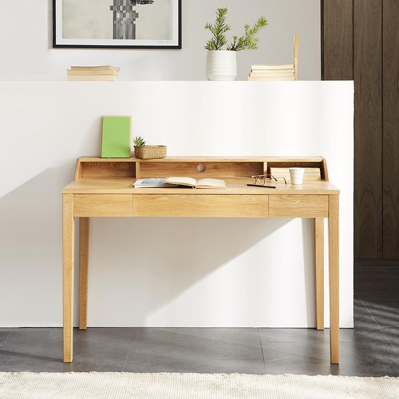 [아스코지] Askozy 북미산 화이트오크 포레스트 원목 책상 테이블