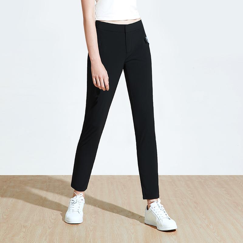 女式凉感弹力抗皱长裤