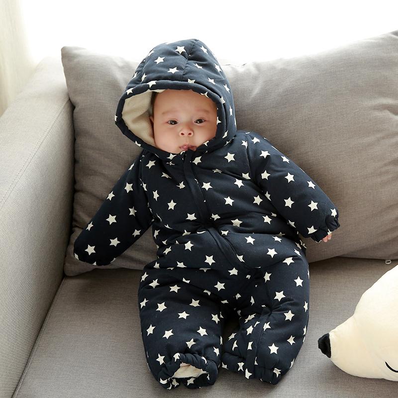 法国Jacadi制造商 :网易严选夜海星辰连体婴儿棉服