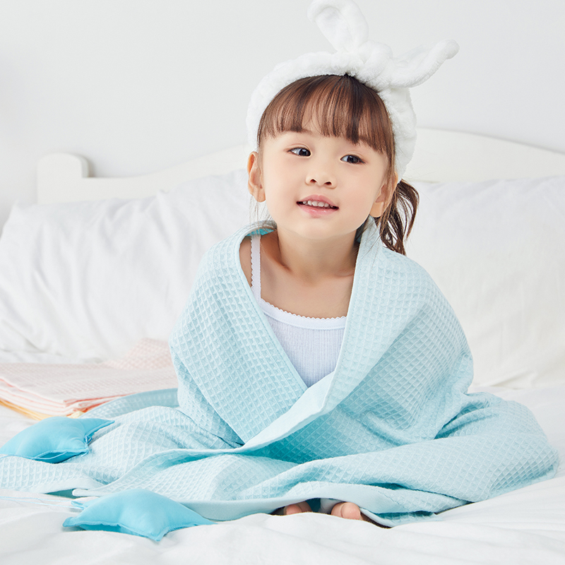 网易严选 蜂巢华夫格纱布双层浴巾