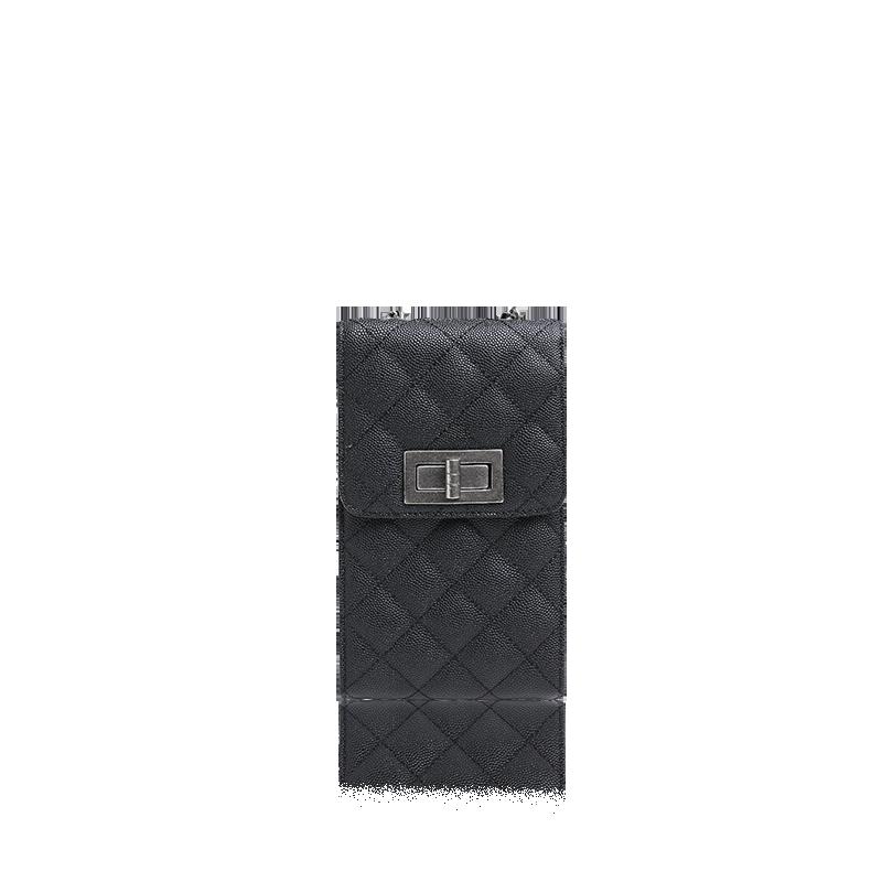 女式鱼子酱纹手机包 (黑色)