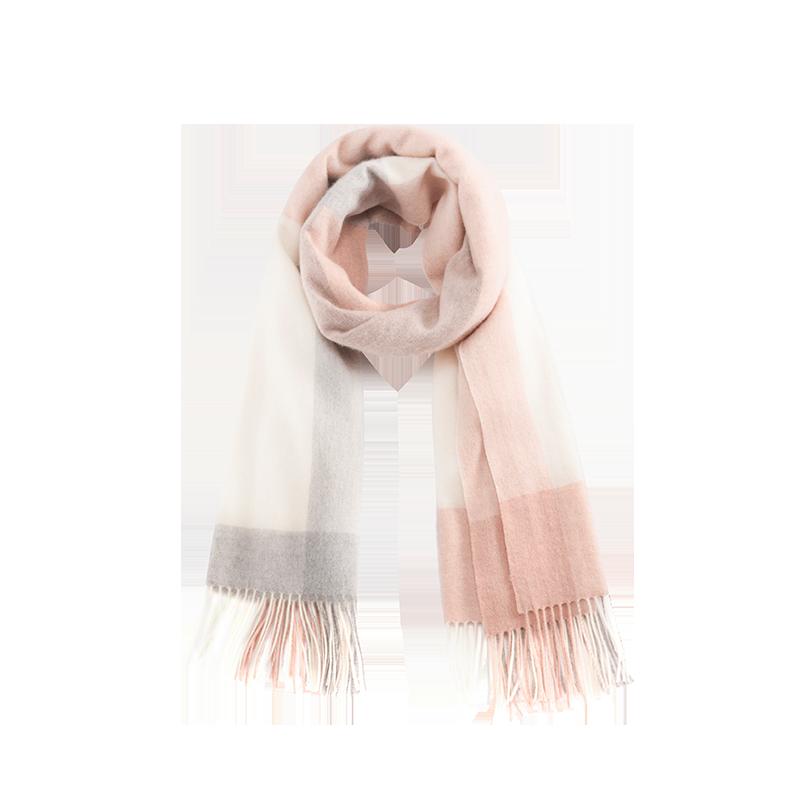 雅致羊绒混纺围巾 (淡粉)