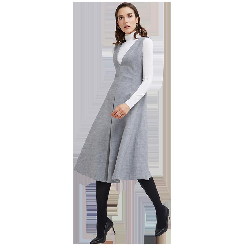女式羊毛背心式連衣裙
