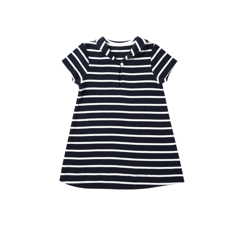婴幼儿纯棉条纹连衣裙 3个月-3岁
