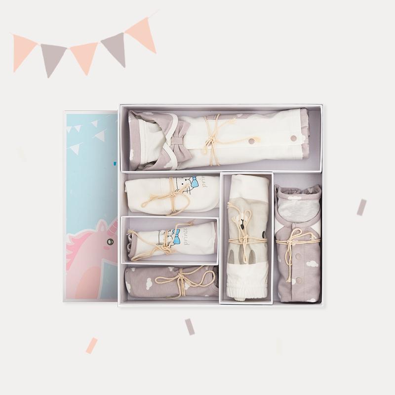 新生儿男宝宝连体爬服礼盒 (80cm(适合9-18个月))