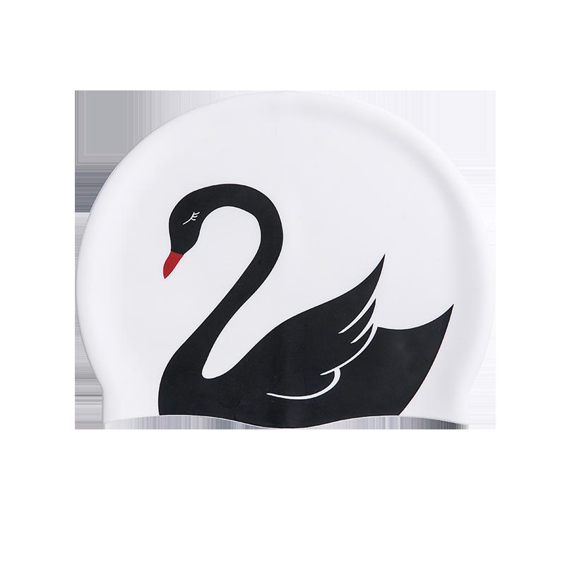 優雅天鵝硅膠泳帽