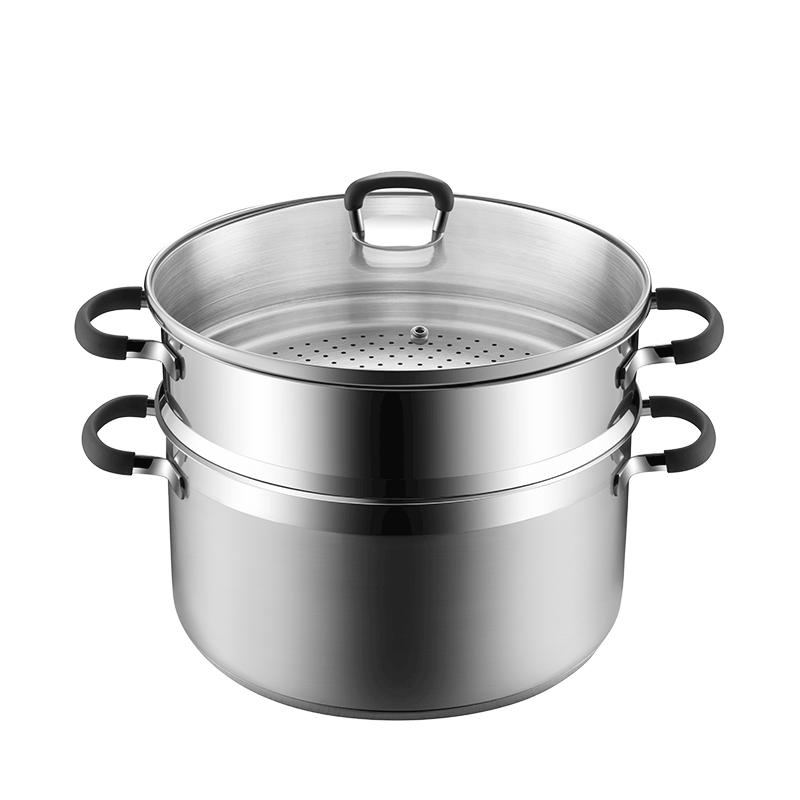 送现立减 不锈钢防烫蒸锅 食之本味,品质之选