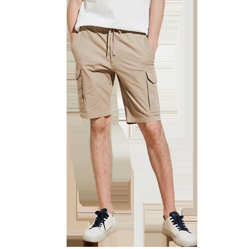 男式工装磨毛短裤