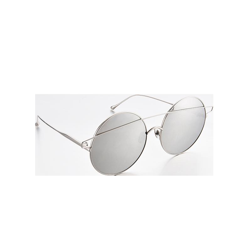 浅色夏日金属框墨镜 (淡雅灰)
