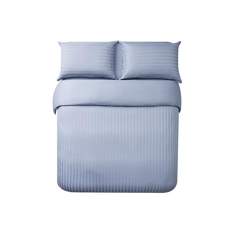 酒店风奢密四件套 (1.5m床:适用2mx2.3m被芯 ; 迷雾蓝(床单款))