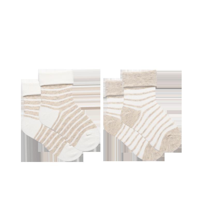 婴幼儿条纹翻罗口短袜