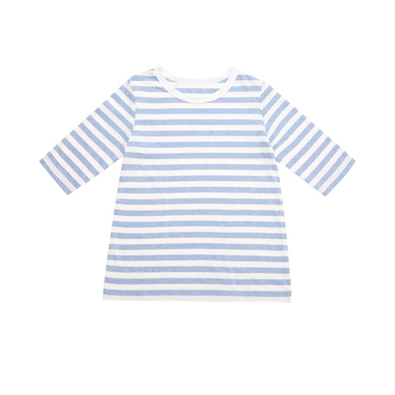 薄棉条纹T恤衫(女童)