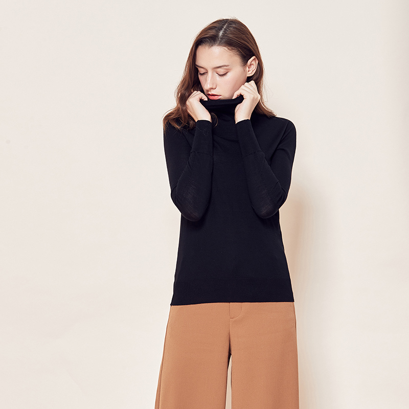 网易严选 女式全成型18针高领扬子毛衫