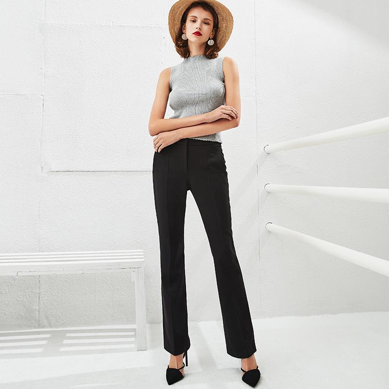 女式修身喇叭裤