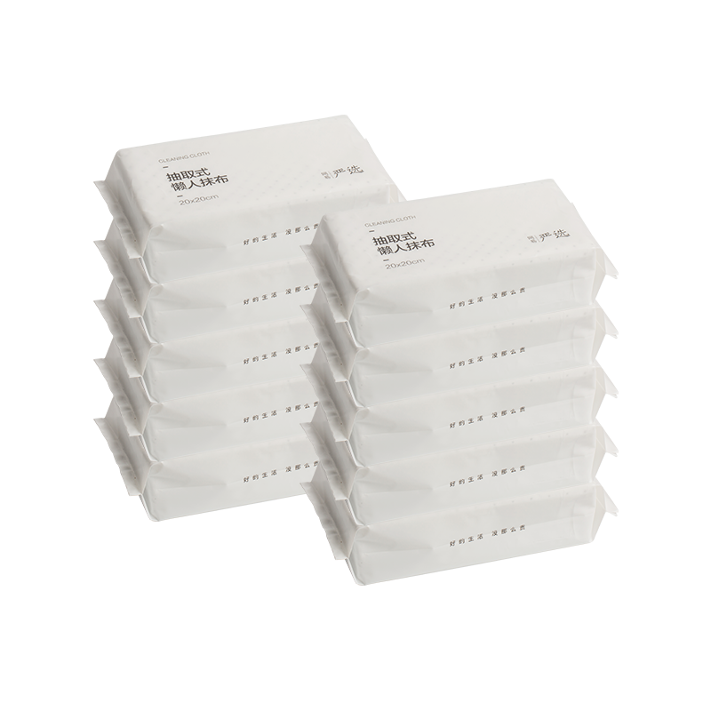 抽取式懒人抹布(加塑点)超值组 (10包囤货装,每包50片,每片20*20cm)