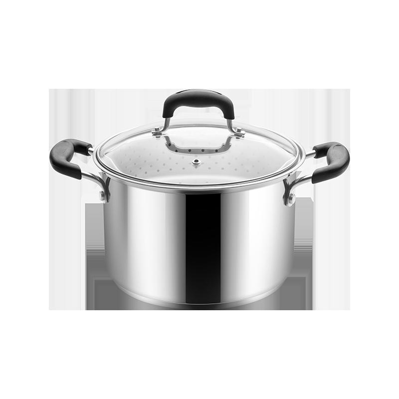 送现立减 精致不锈钢蒸煮多用锅 一口有高度又有深度的锅