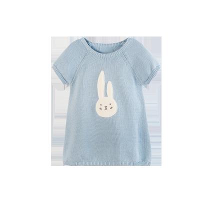 女童图案短袖针织裙 1-8岁