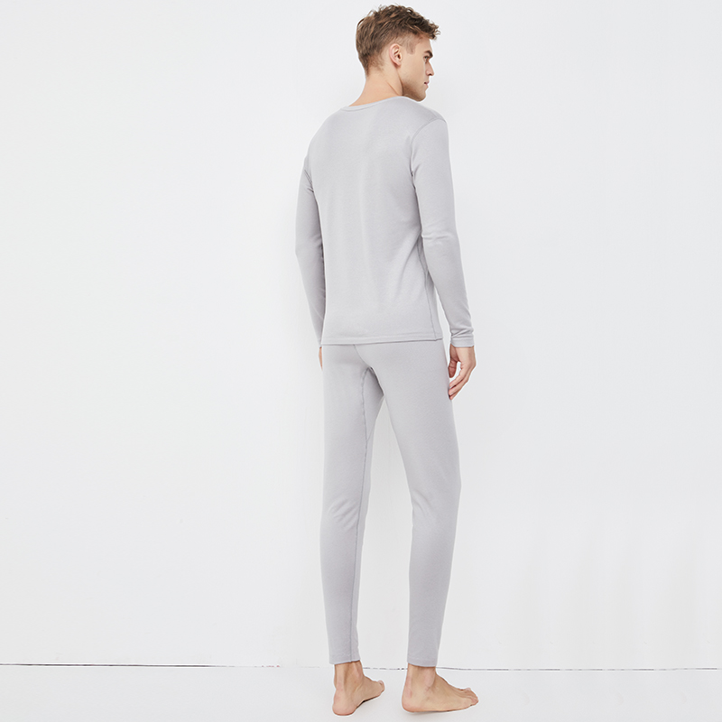 男式氨基酸双层护肤保暖内衣(上衣+裤子)