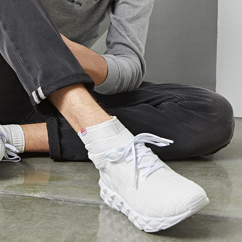 网易严选 男士立体格纹轻便袜套鞋