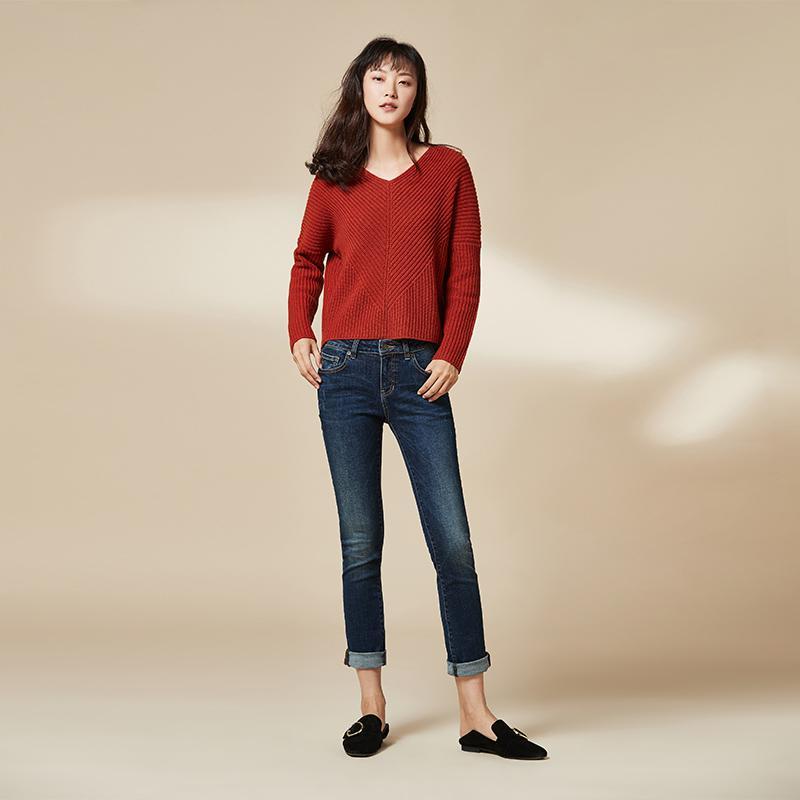 网易严选 女式基础修身直脚牛仔裤