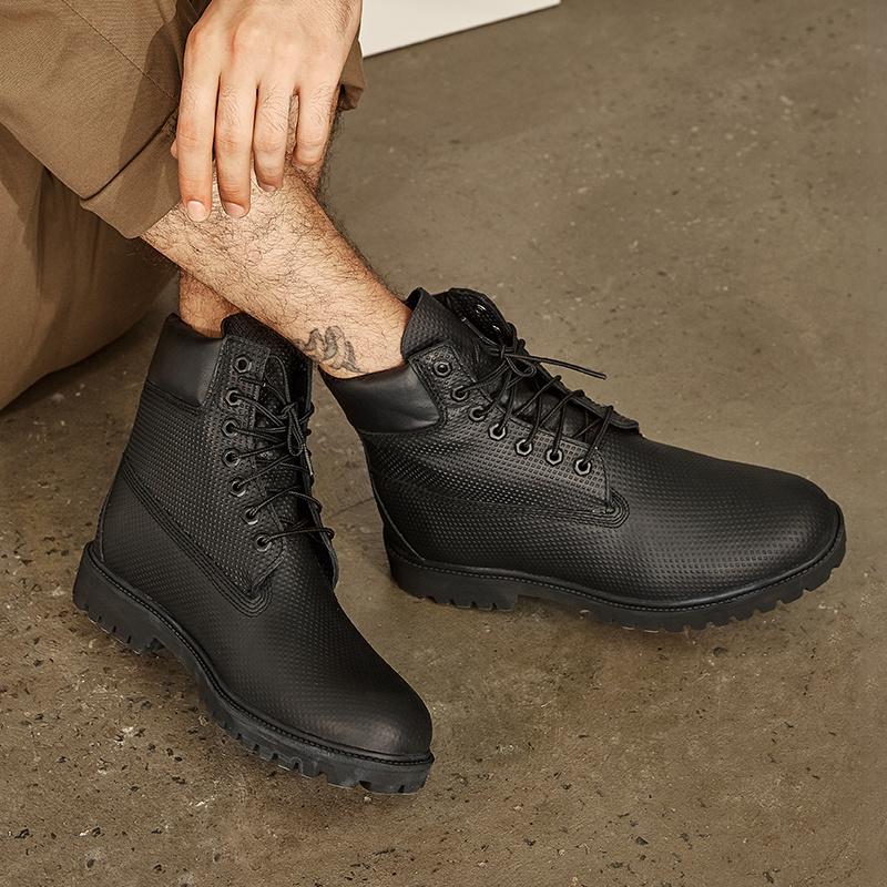 网易严选 男士粒面牛皮防水工装靴*2双 ¥459包邮229.5元/双包邮(买二免一)