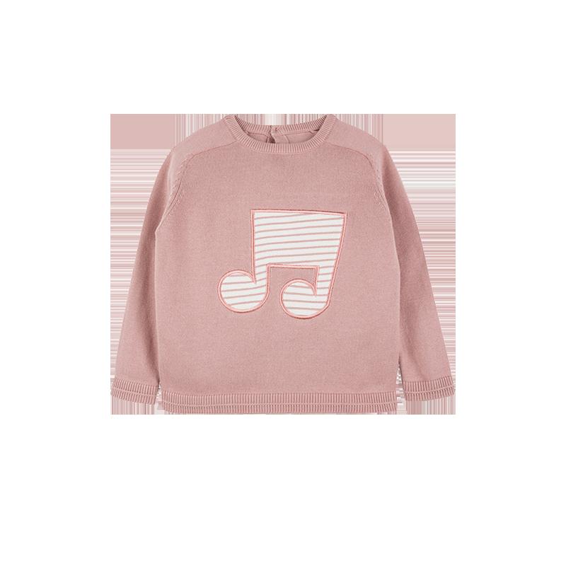 小童音符针织衫 1-8岁