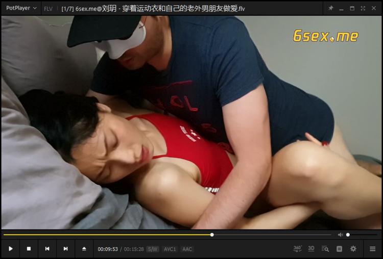 【刘玥】穿着运动衣和自己的老外男朋友做爱