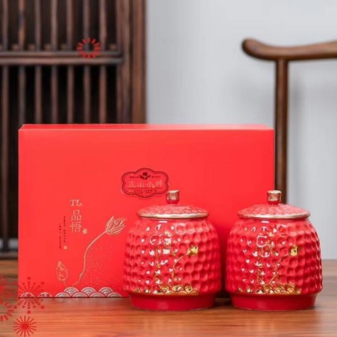 传统正山小种·陶瓷罐装!传统手工正山小种,武夷茶师全新力作!传承千年陶瓷罐装,更显高档!