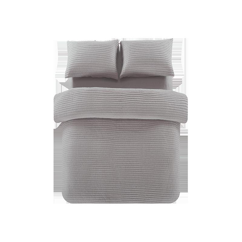 全棉色织绗缝多用件套