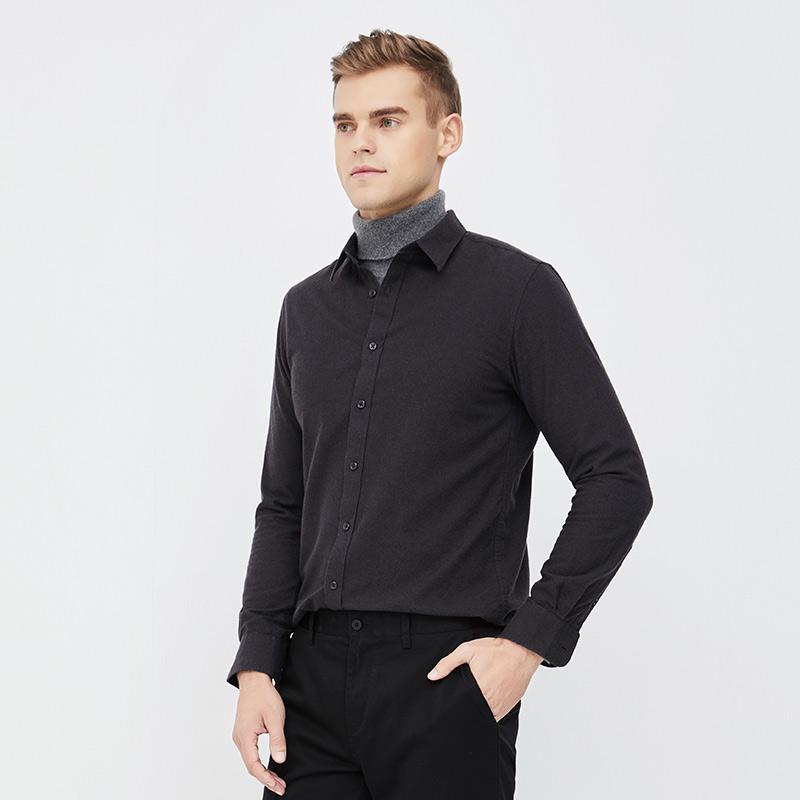 网易严选 男式牦牛绒高端衬衫