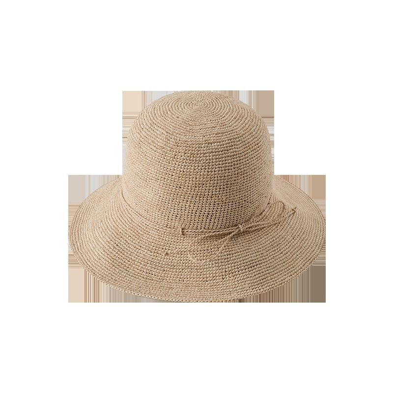日系拉菲草女式草帽
