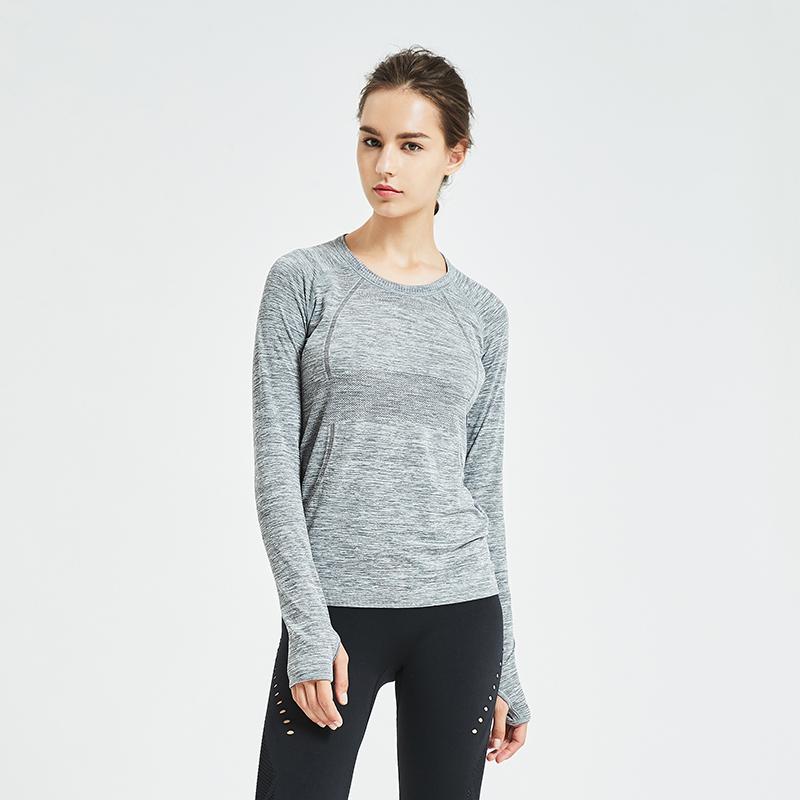 网易严选 女式无缝长袖运动T恤衫