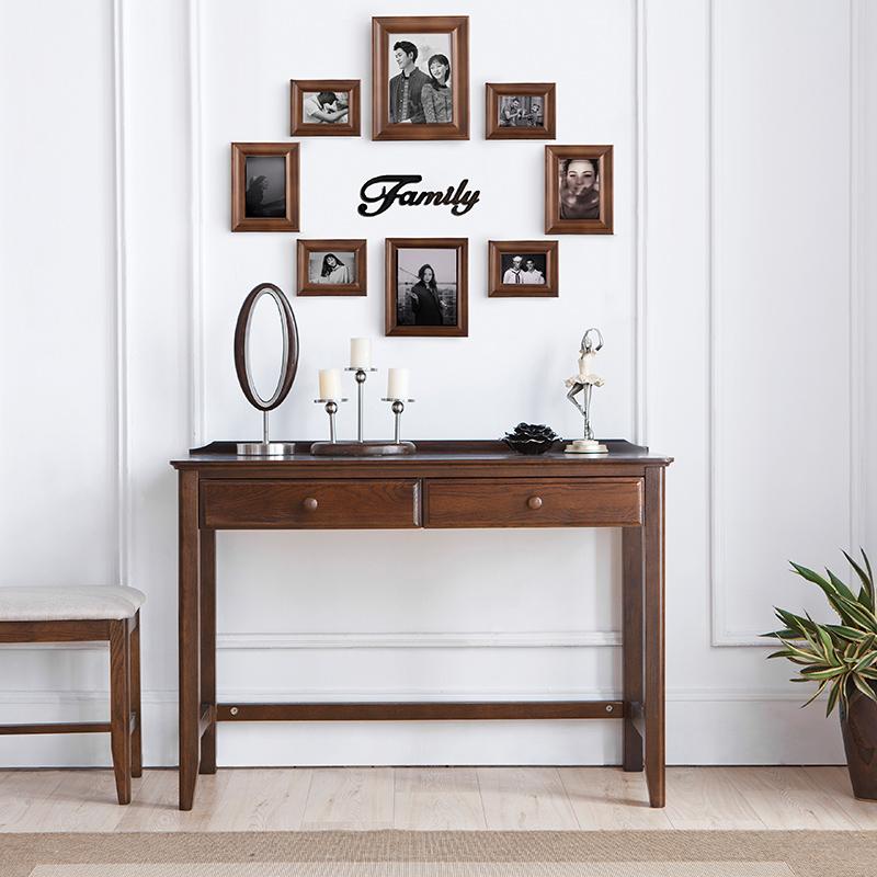 美式经典实木照片墙