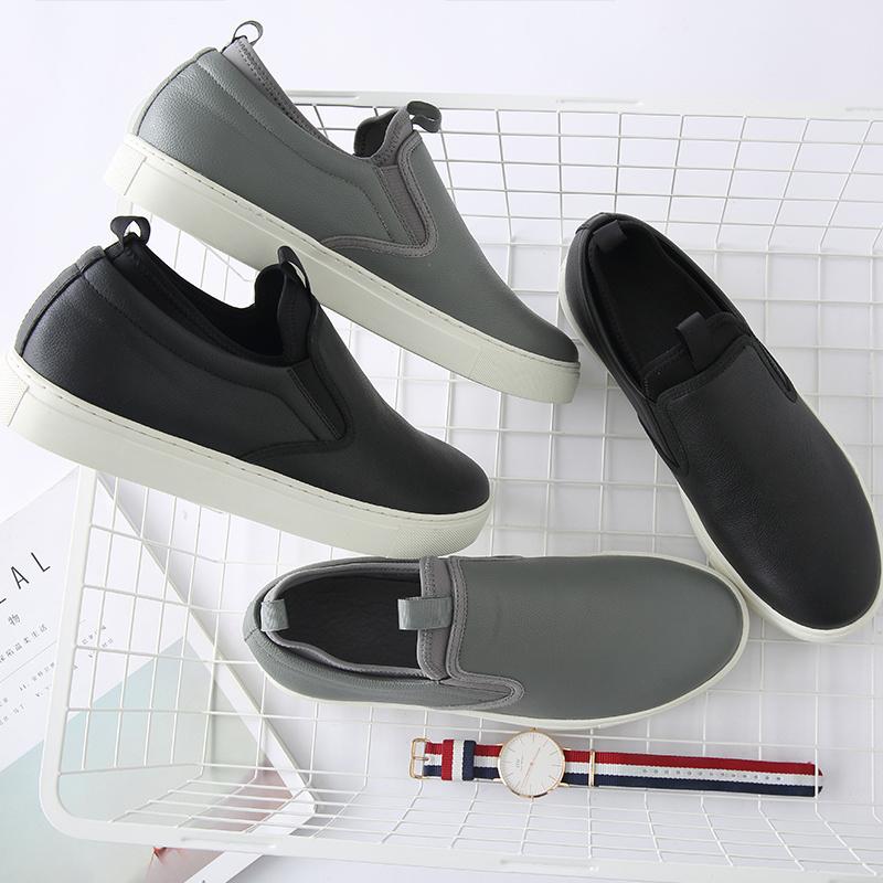 168元包邮 网易严选 男式一脚蹬头层牛皮滑板鞋
