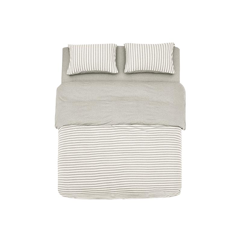 全棉针织条纹四件套 新款