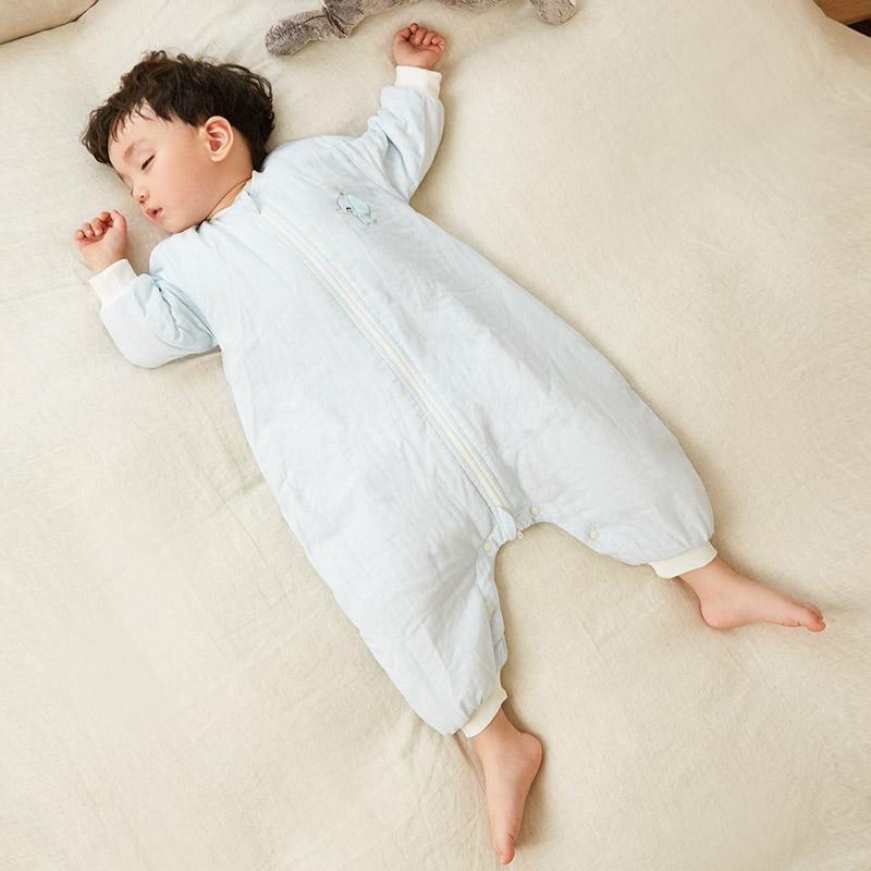 网易严选 双层提花纱布夹棉分腿睡袋  好眠助成长