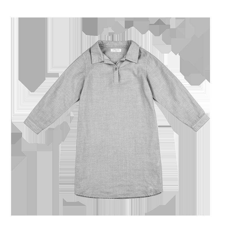 女童纱布衬衣裙 4-16岁