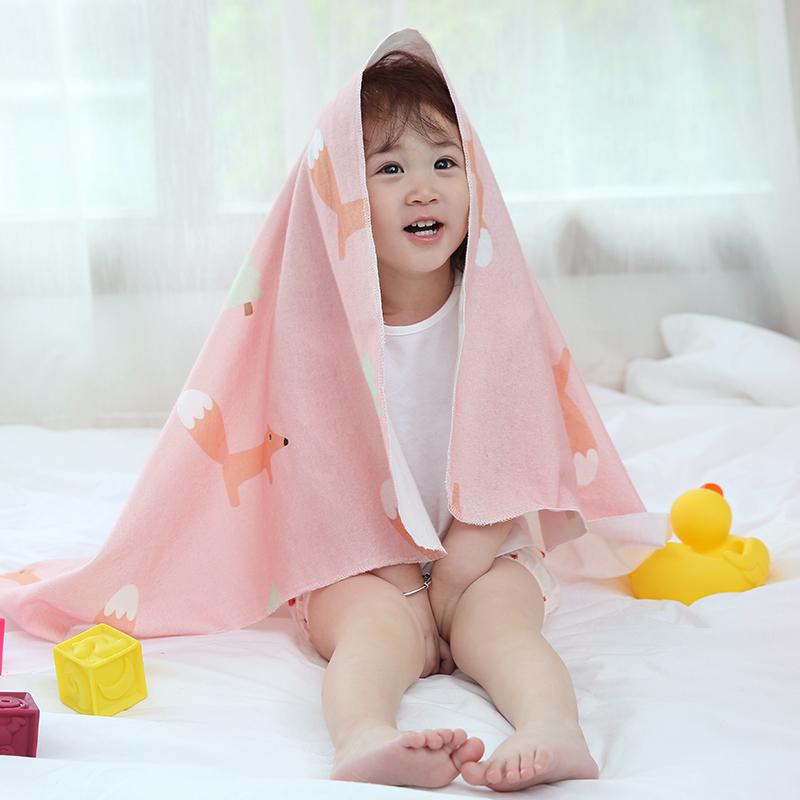网易严选 淘气动物全棉细绒婴儿多用包巾