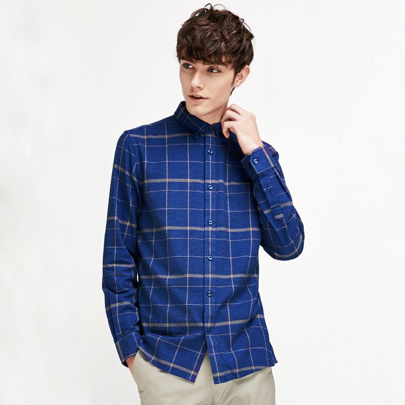 网易严选 男式舒适休闲长袖衬衫