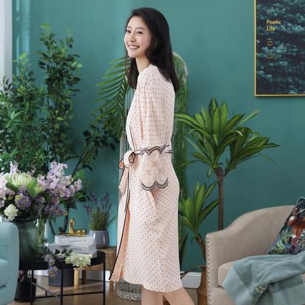网易严选,设计师款 女式波点蕾丝睡袍 两色