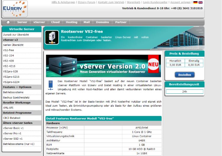 羊毛党之家 EUserv:提供免费IPv6 VPS/申请及注意事项