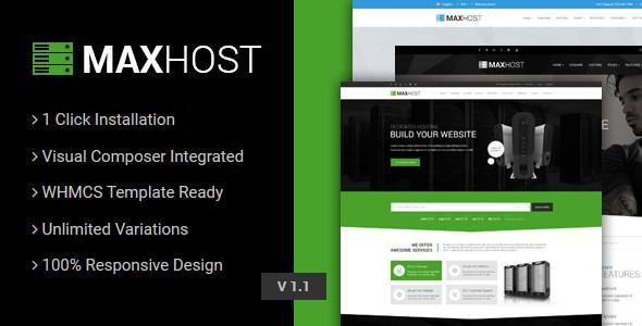 wordpress版的WHMCS模板-MaxHost6.1最新版
