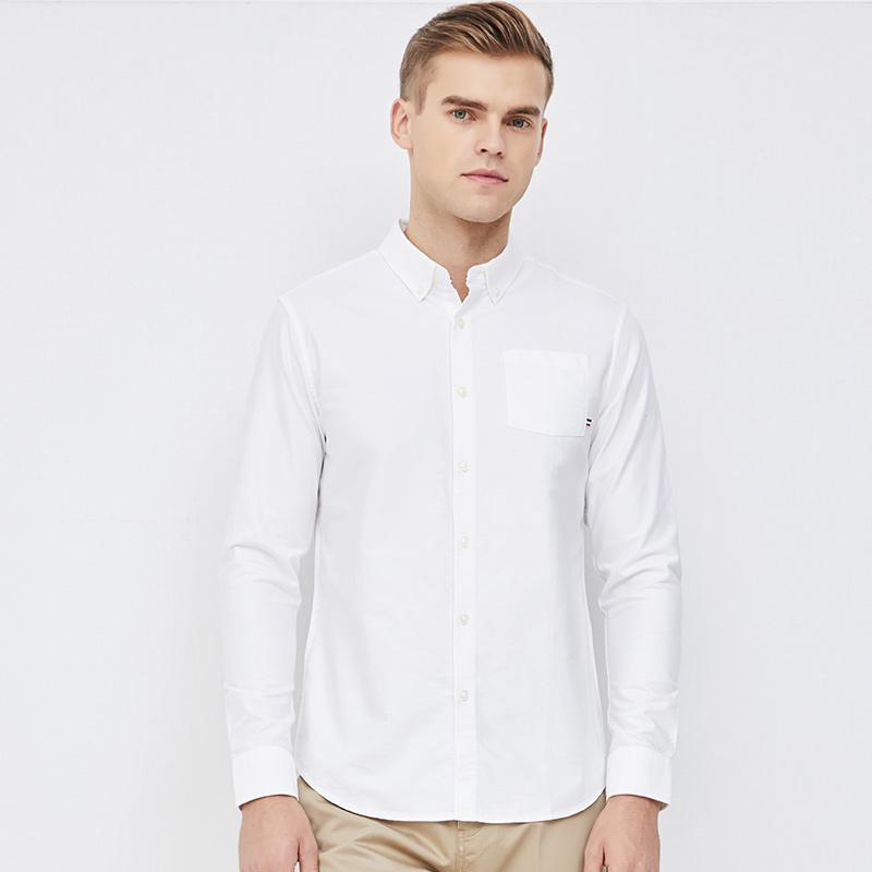 网易严选 男式基础休闲牛津纺长袖衬衫